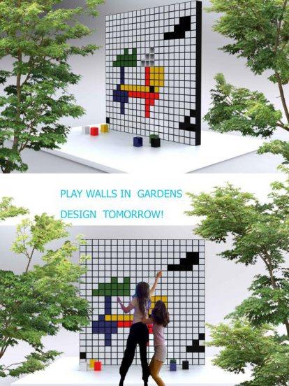 เล่นกันนะ lenkunna กำแพงแต่งสวนสำเร็จรูป