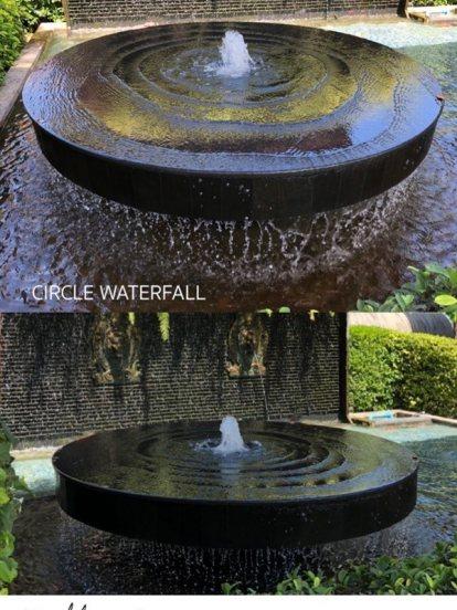 Circle. Water fall