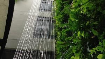 งานออกแบบสวนแนวตั้งสีเขียวสำหรับคนเมือง