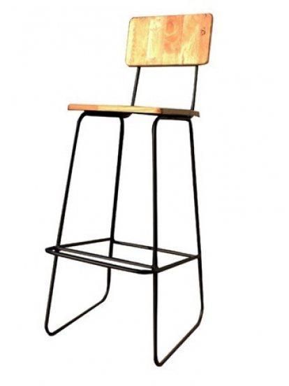 เก้าอี้ทรงสูงสีครีม