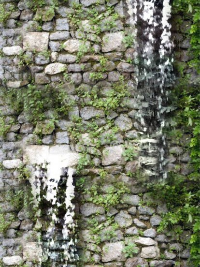 ม่านน้ำตกกำแพงหินเทียมโมเดิรน์สำเร็จรูป