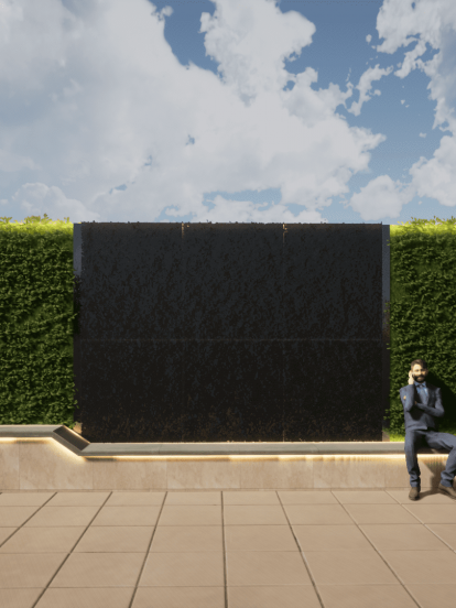 Modern funiture green wall water design