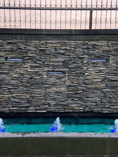 ชุดม่านน้ำหินกาบสำหรับตกแต่งบ้าน อาคารสมัยใหม่