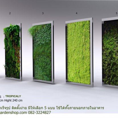 งานออกแบบพื้นที่สีเขียวขนาดเล็กในบ้าน