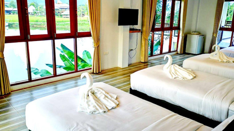 ห้อง Large Room - 4 Single Beds