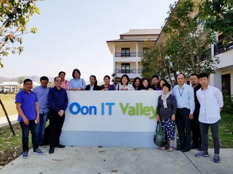 นักศึกษาชาวภูฏาณเดินทางมาดูงาน @ Oon IT Valley