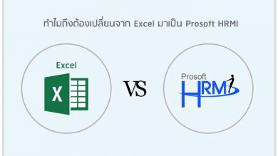 ทำไมถึงต้องเปลี่ยนจาก Excel มาเป็น Prosoft HRMI