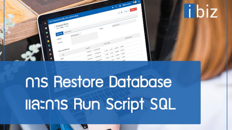 ขั้นตอนที่ 2 การ Restore Database และการ Run Script SQL All Version Microsoft SQL Server