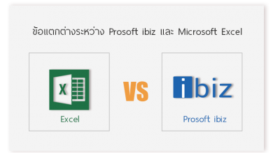 10 ข้อแตกต่างระหว่าง Prosoft ibiz และ Microsoft Excel