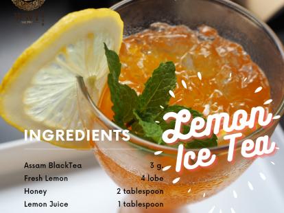 Lemon ice tea by Wawee tea